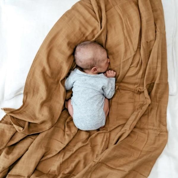 Muslin Swaddle Blanket - Golden Sun