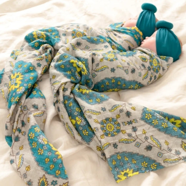 Muslin Swaddle Blanket - A Magic Carpet Ride