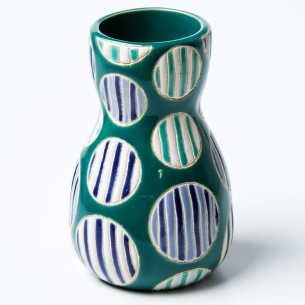 Saturday Vase - Blue Spot