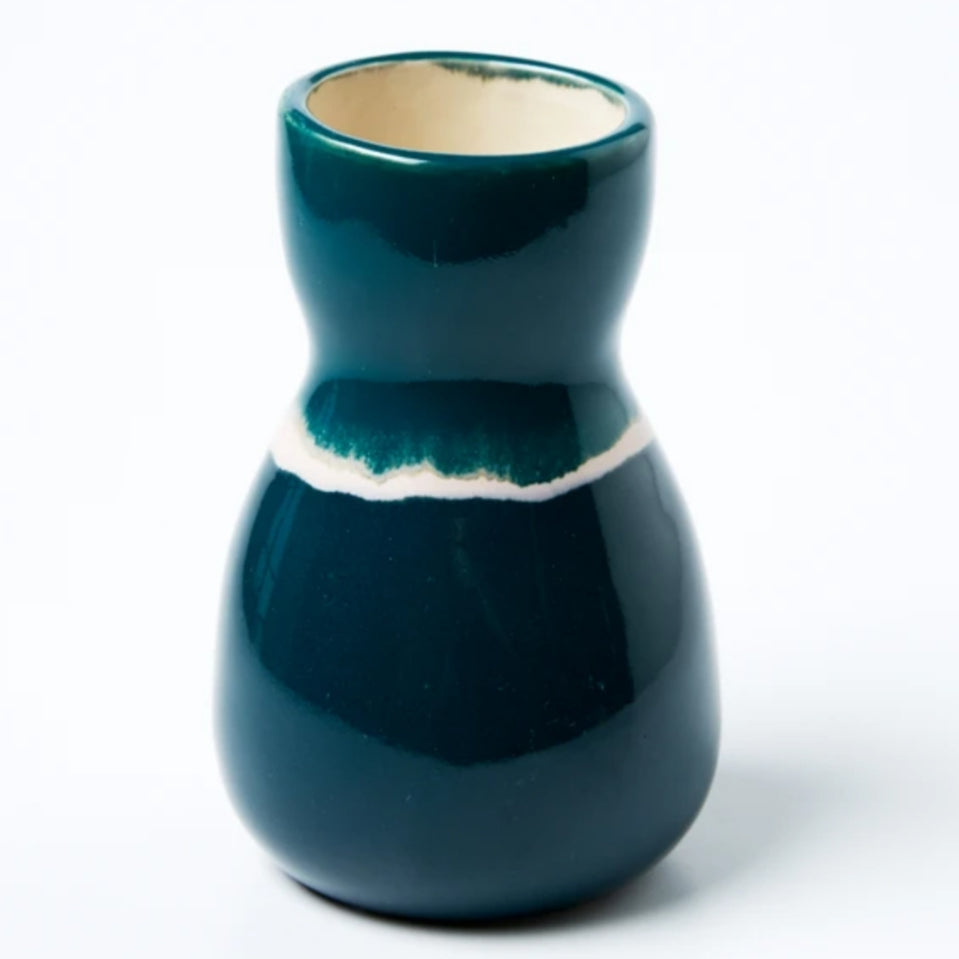 Saturday Vase - Green Ink