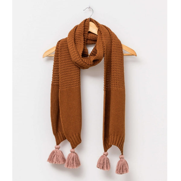Big-T Scarf - Cashew/Rust