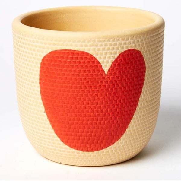 Heart Pot - Red