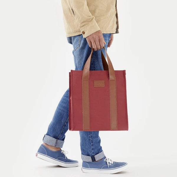 Paper by Kollab Market Bag - Burgundy