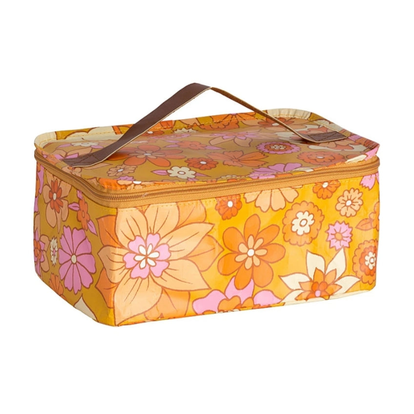 Stash Bag - Mustard Floral