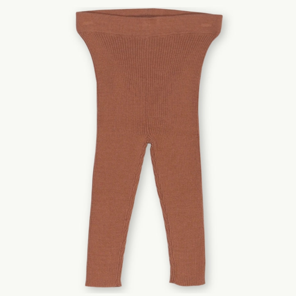 Ribbed Essential Leggings -Terracotta Rose