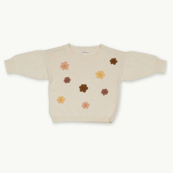 Flower Power Pull Over - Milk