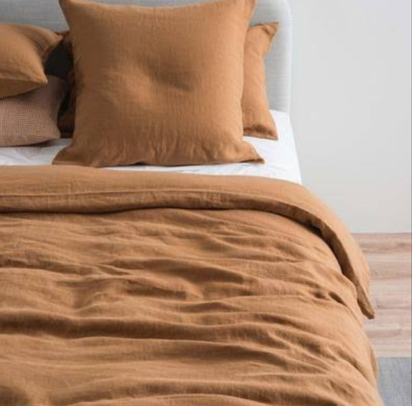 Sove Linen Duvet Cover - Toast Queen