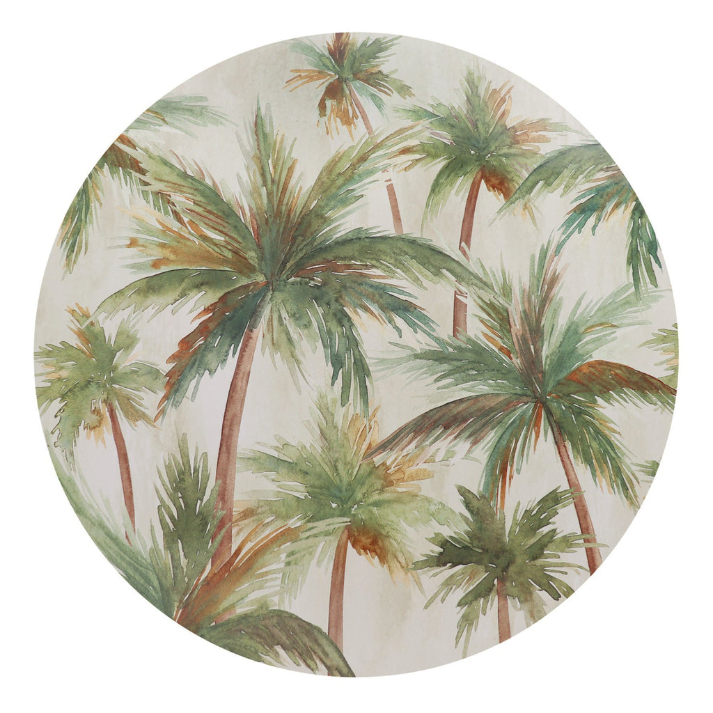 Round Placemat Set - Palms