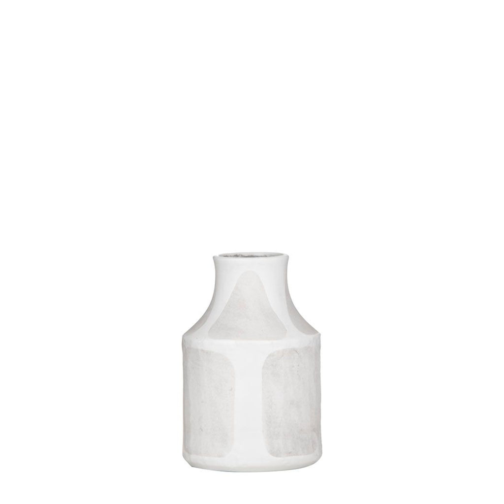 Sorrento Vase - White/Grey Small