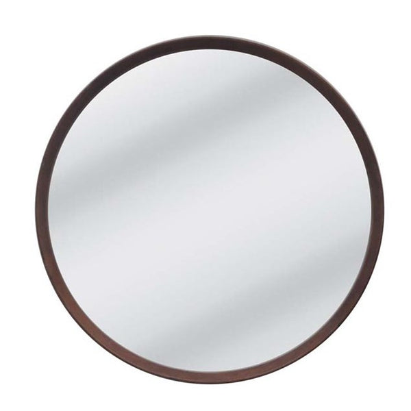 Anderson Round Mirror - Walnut - Medium