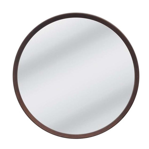 Anderson Round Mirror - Walnut - Large