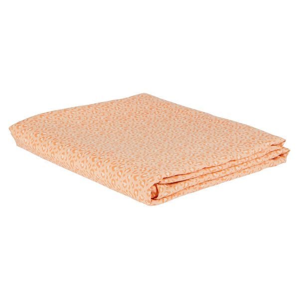 Ajo Linen Fitted Sheet - Melon Queen