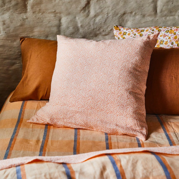 Ajo Linen Euro Pillowcase Set - Melon