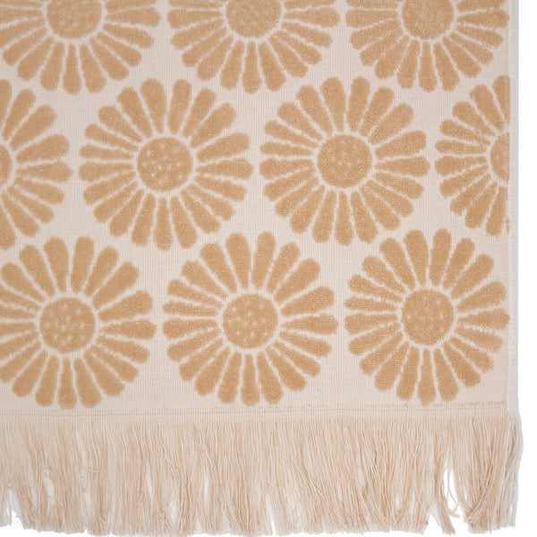 Daisy Towel - Bisque