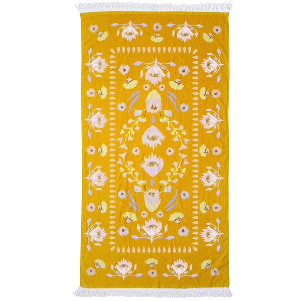 Printed Beach Towel - Avalon