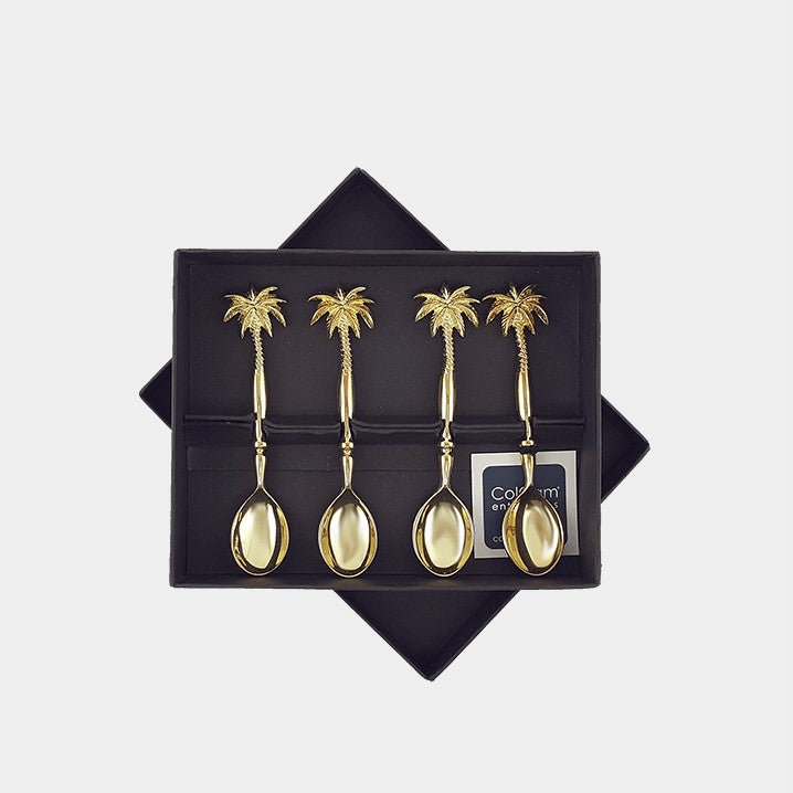 Gold Palm Spoon Set