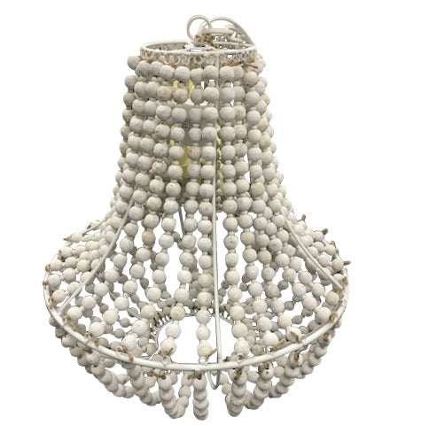 White Ball Chandelier