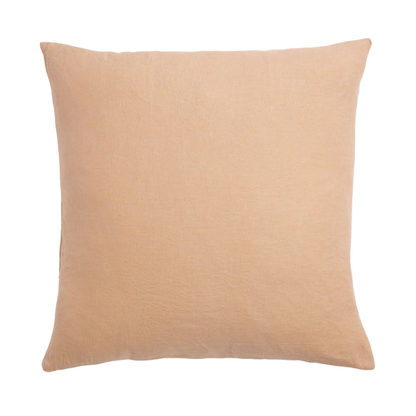 Linen Euro Pillowcase Set - Cashew