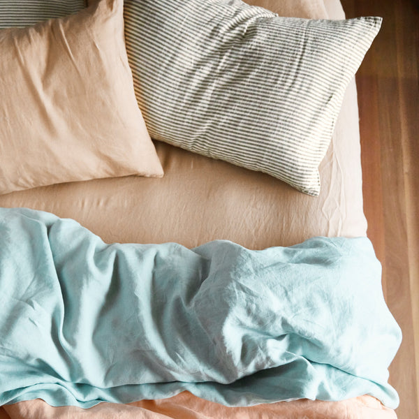 Linen Fitted Sheet - Queen Cashew