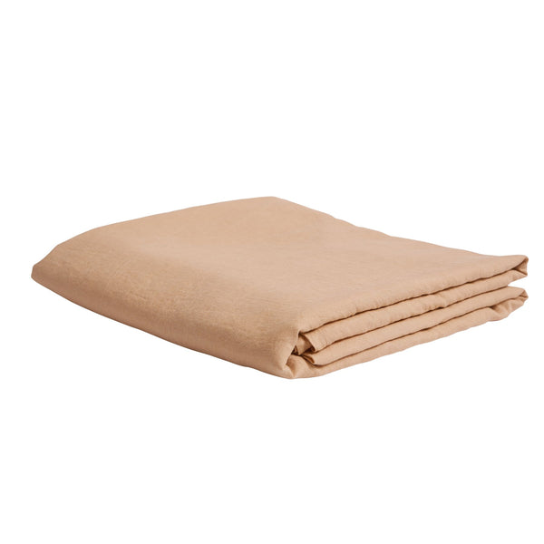 Linen Flat Sheet - King Cashew