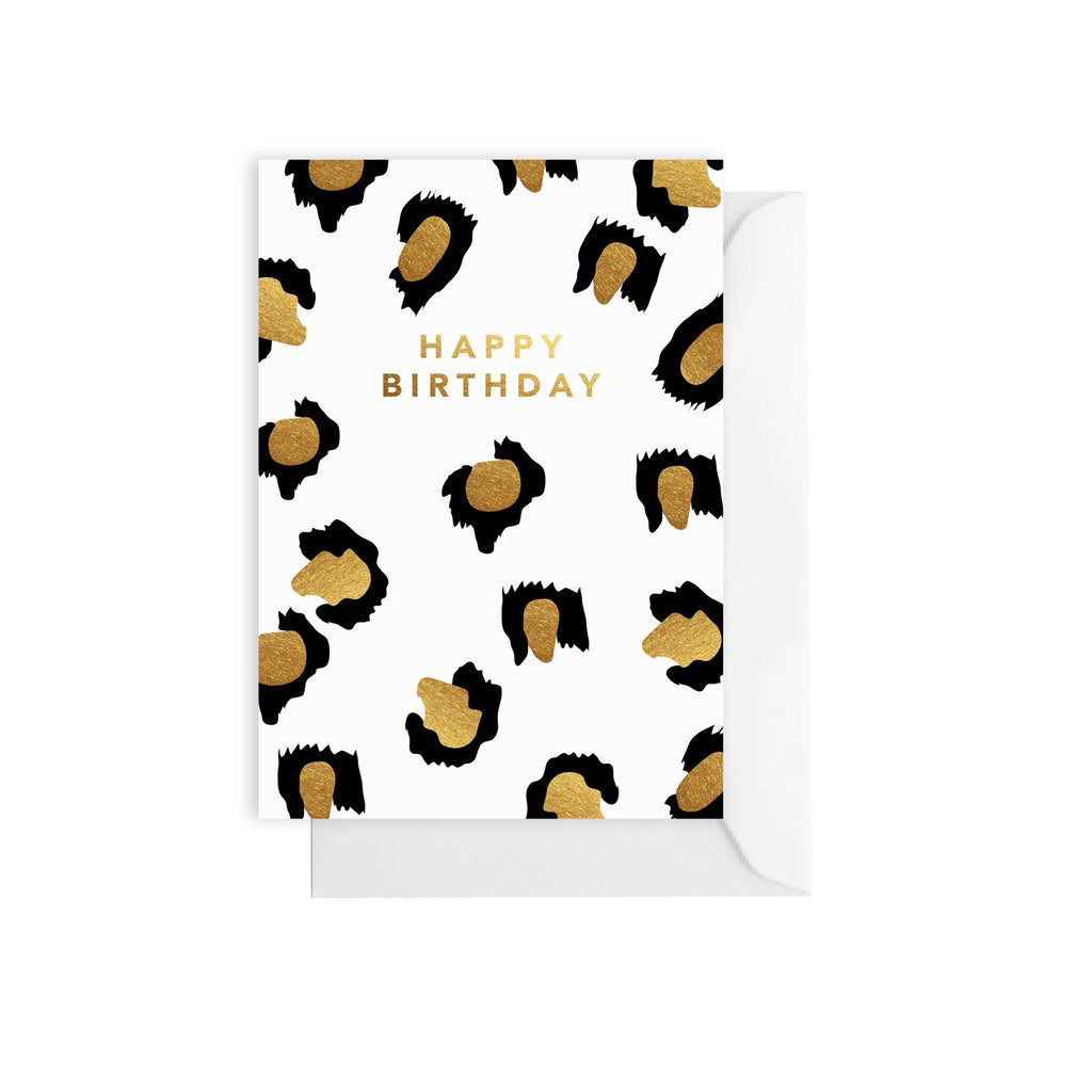 Leopard Gold - Greeting Card
