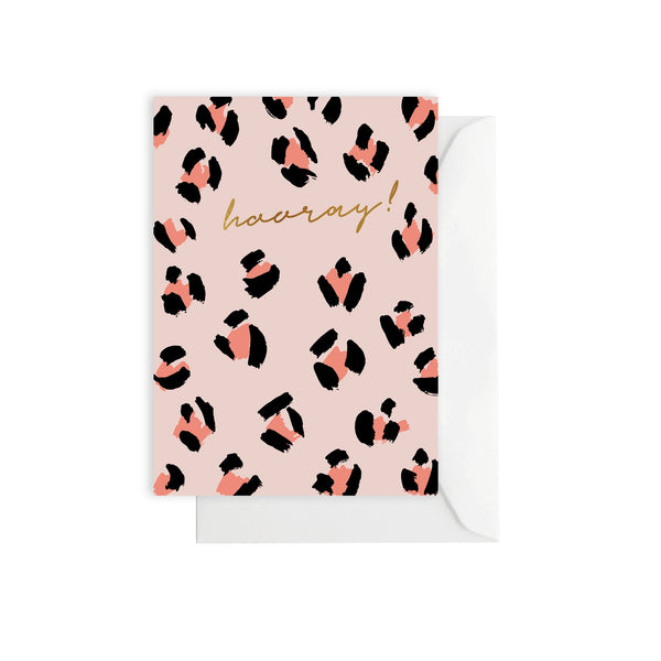 Leopard Peach - Greeting Card