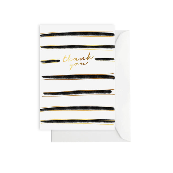 Thank you Brush Stripe - Greeting Card
