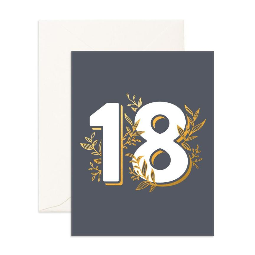 Greeting Card - No.18 Gunmetal