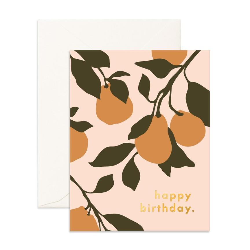 Greeting Card - Birthday Pears