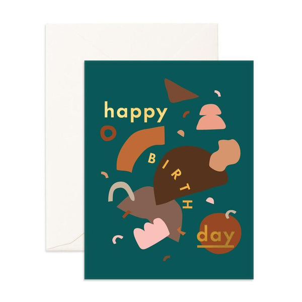 Greeting Card - Birthday Dancing Shapes