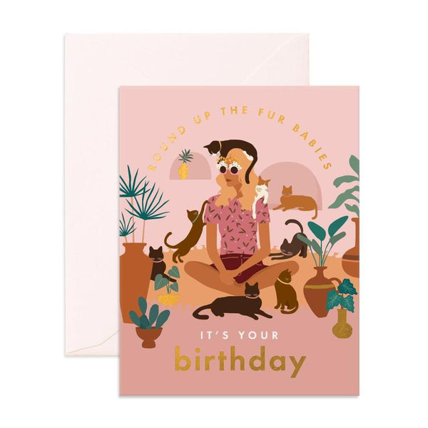 Greeting Card - Birthday Cat Lady