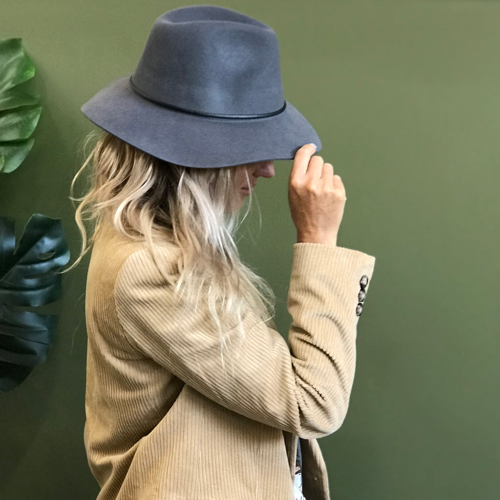 Panama Wool Hat - Grey
