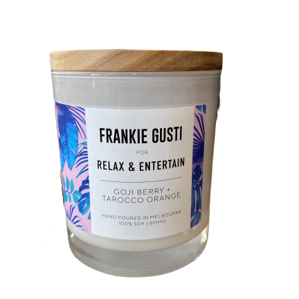 Frankie for Relax & Entertain Goji Berry & Tarocco Orange