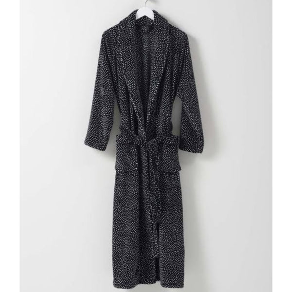 Halo Women's dressing Gown - Black & White