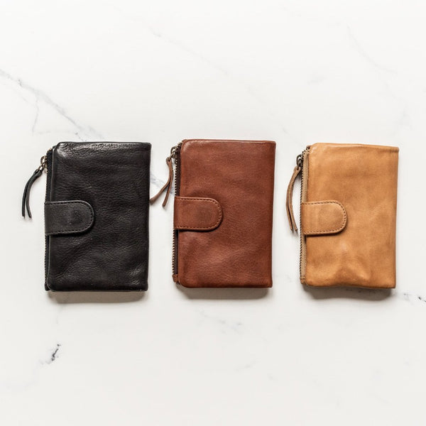 Small Capri Wallet - Cognac