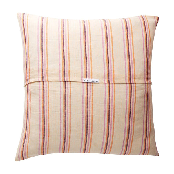 Lio Stripe Euro Pillowase Set - Tangerine