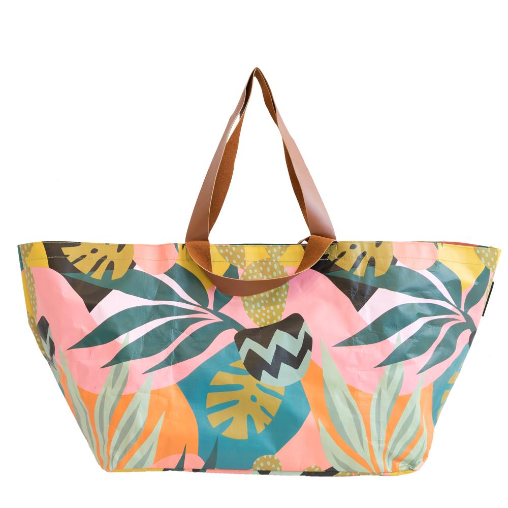 Monstera Cactus Beach Bag