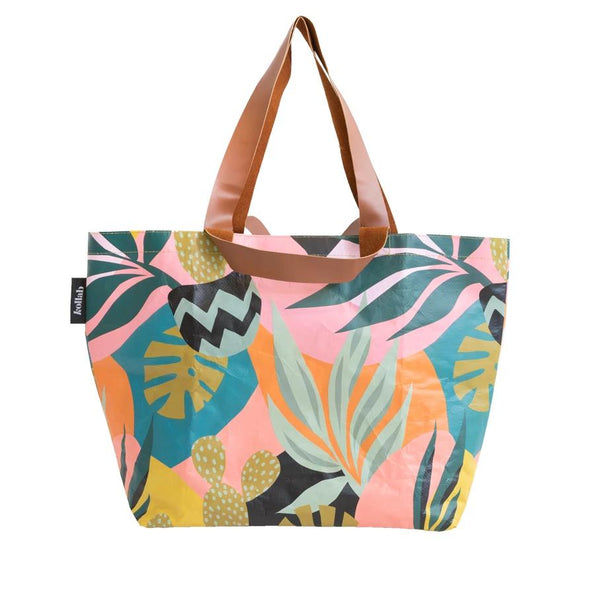 Monstera Cactus Shopper Tote