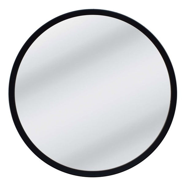 Anderson Black Round Mirror - Large