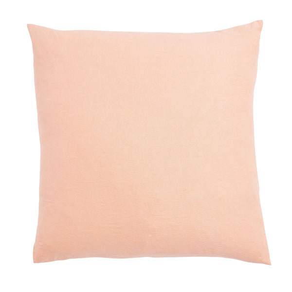 Linen Euro Pillowcase Set - Peach Puff