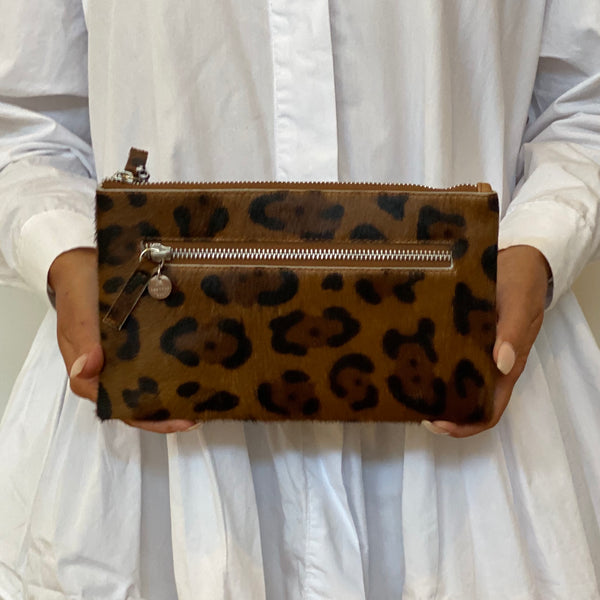 Original Wallet w/ Zip - Tan Leopard