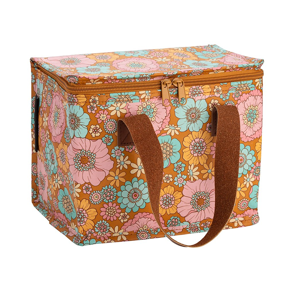Lunch Box - Retro Aqua Floral