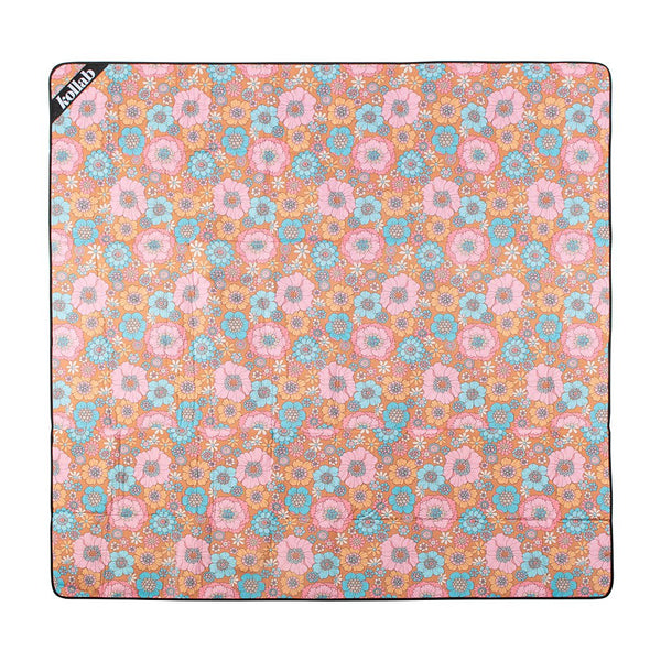 Mini Mat - Retro Aqua Floral