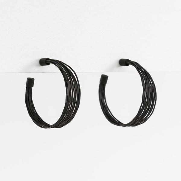 Wire Earrings - Black