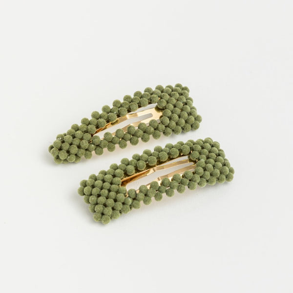 Bubble Hair Clip - Khaki