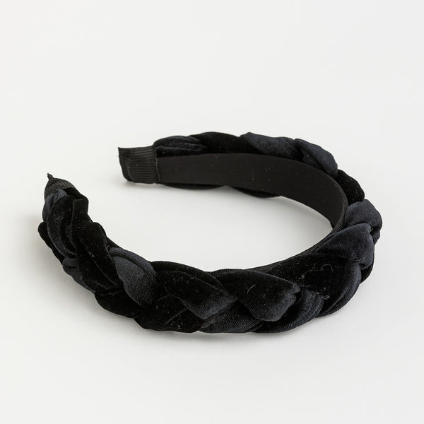 Plaited Hair Band - Black