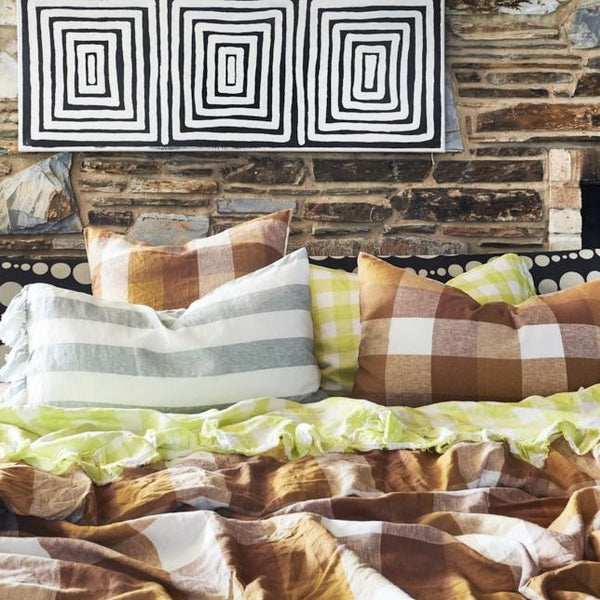 Biscuit Check Duvet Cover
