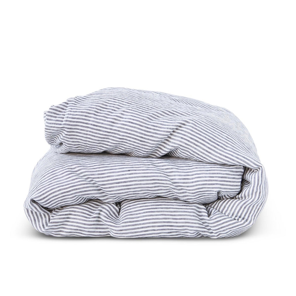 Charcoal Stripe Duvet Cover