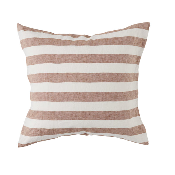 Tobacco Stripe European Pillowcase Set