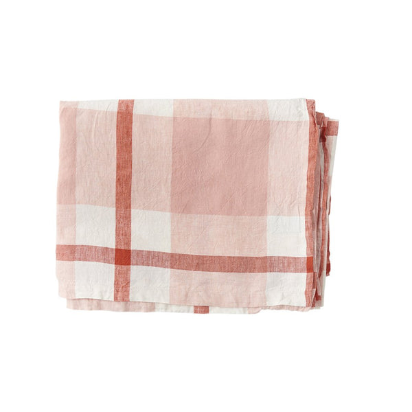 Floss Check Linen Tablecloth